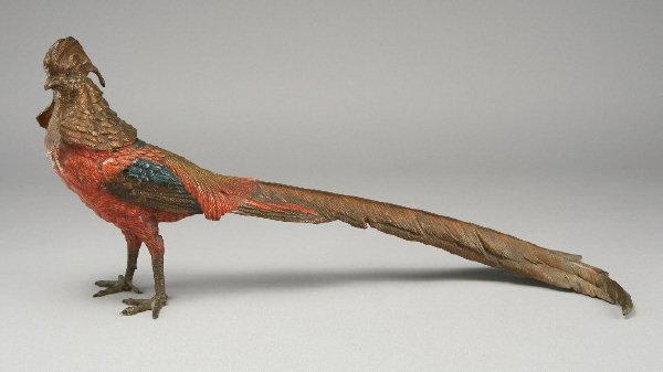 15: An Austrian cold painted bronze pheasant with