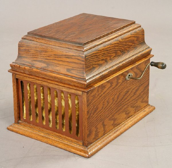 """18: An Edison """"Amberola"""" cylinder player with an"""
