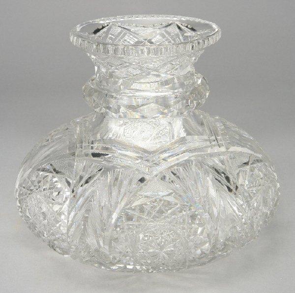 20: An American Brilliant Cut glass centerpiece