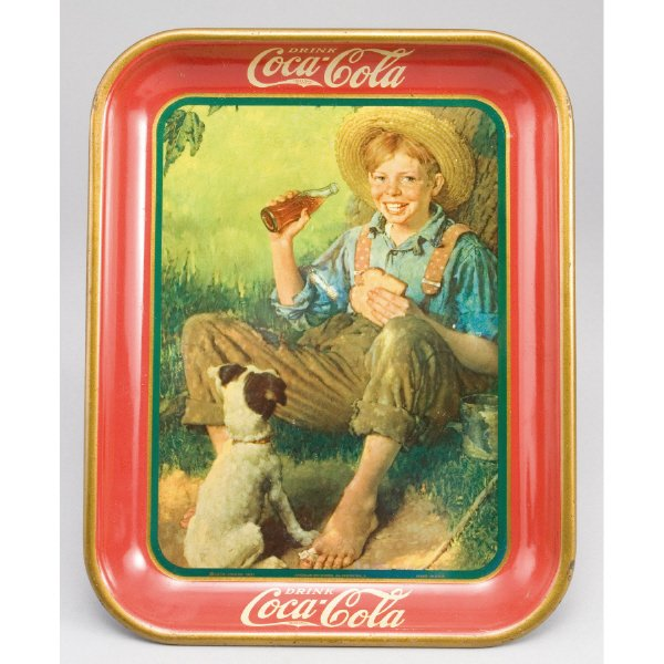 """23: Coca Cola 1931 serving tray, """"Rockwell,"""""""