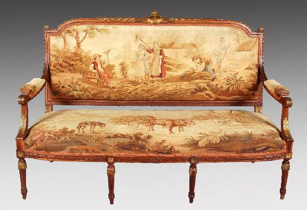 199: 4pc. Louis XVI style salon suite with carved
