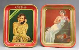 261: (2) Coca-Cola serving trays including:
