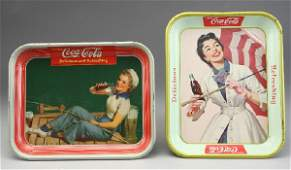 268 2 CocaCola serving trays including