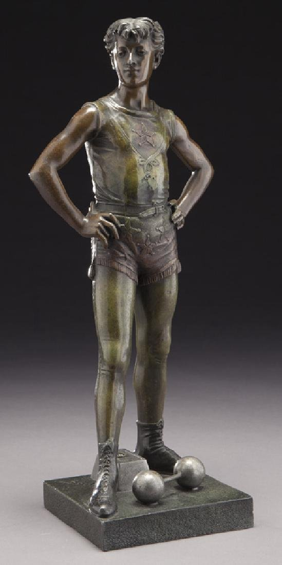 Eutrope Bouret bronze depicting a young male