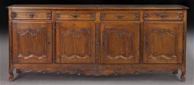 19th C. French carved walnut enfilade