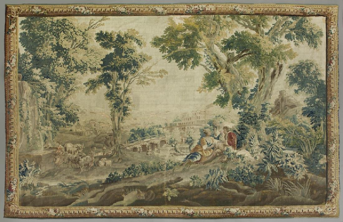 18th C. Aubusson tapestry