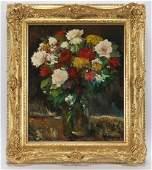 """Remi Van Sluys """"Untitled (Vase of flowers)"""""""