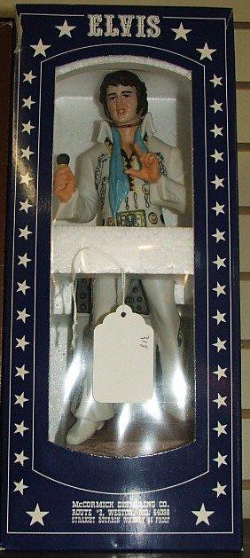 22: Elvis decanter McCormick in box Elvis in jumpsuit