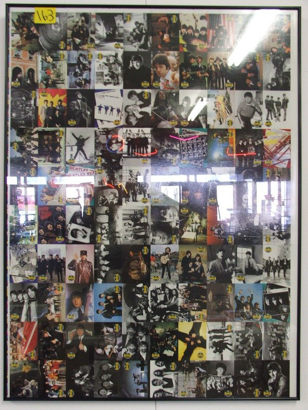 """1: COLLECTOR CARDS UNCUT SHEET """"THE BEATLES"""" 27 3/4"""" X"""
