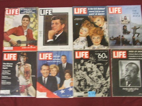 2: LIFE MAGAZINE GROUPING THE 60'S, J.F.K., LUCILLE BAL