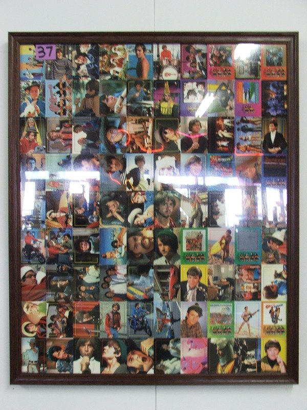 """3:  COLLECTOR CARDS UNCUT SHEET """"THE MONKEES"""" 29"""" X 35"""""""