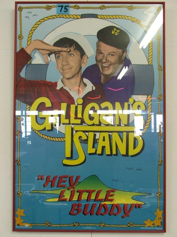 """7: FRAMED POSTER """"GILLIGANS ISLAND"""" 23 1/2"""" X 35 1/2"""""""