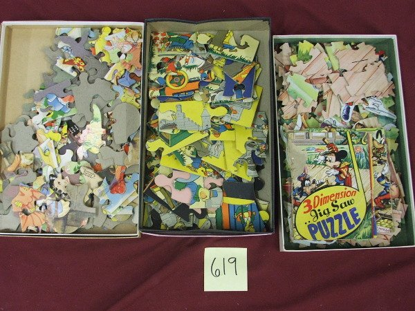 9: MISC GROUPING-3 VINTAGE PUZZLES