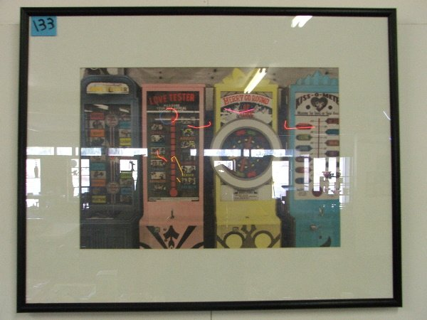 """13: FRAMED POSTER """"LOVE MACHINES"""" 23"""" X 29 1/2"""""""