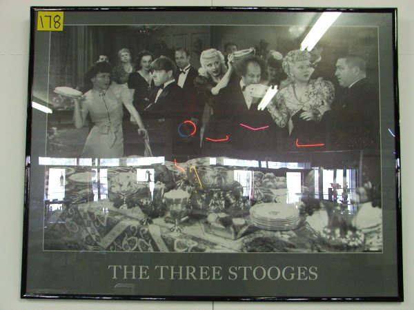 """24: FRAMED POSTER """"THE THREE STOOGES"""" 22"""" X 28"""""""