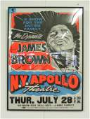 61 CONCERT POSTER THE APOLLO NY JAMES BROWN SIGNED