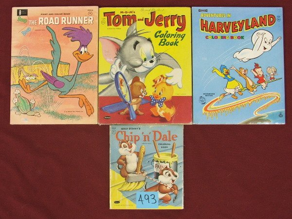 168: COLORING BOOKS CHIP & DALE,HARVEYLAND,TOM AND JERR