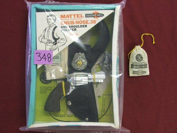"315: ""MATTEL"" SNUB NOSE 38 DETECTIVE SET  AND ORIGINAL"