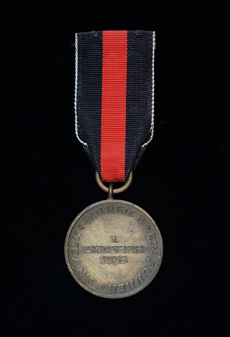 WWII German 1938 Sudentenland Medal - 2