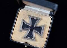 WWII German Cased Iron Cross 1st Class