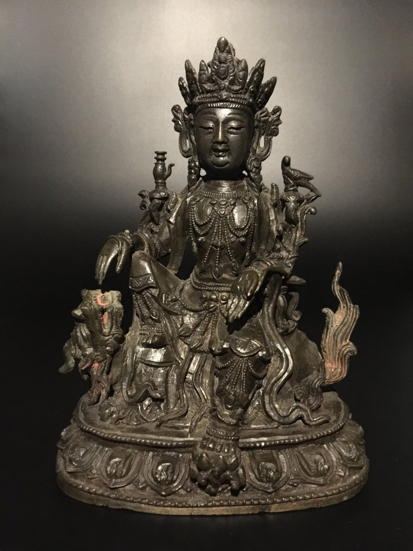 16 Century Chinese Bronze Figure of GuanYin