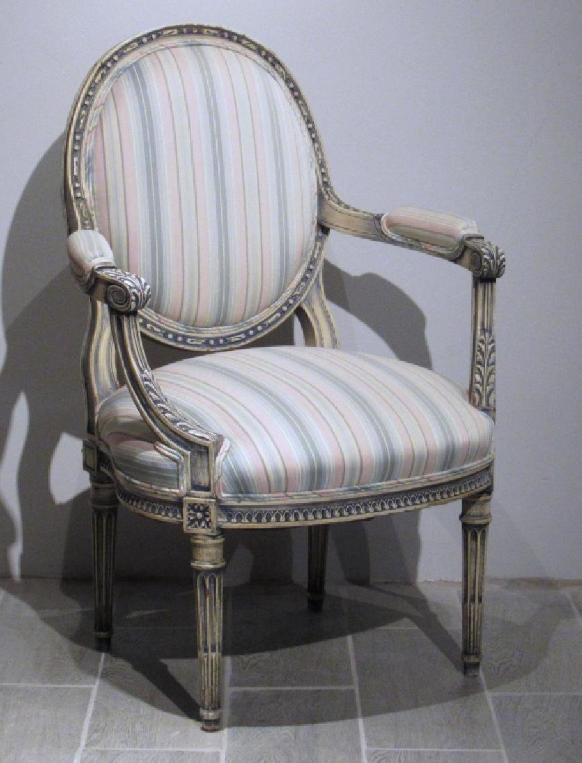 French Louis XVI Style Fauteuil