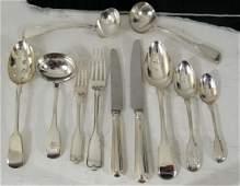 80 Piece English Silver Flatware Assembled Set