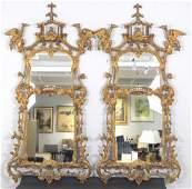 Pair George III Style Pier Mirrors