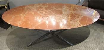 Knoll Studio Oval Marble Dining Table