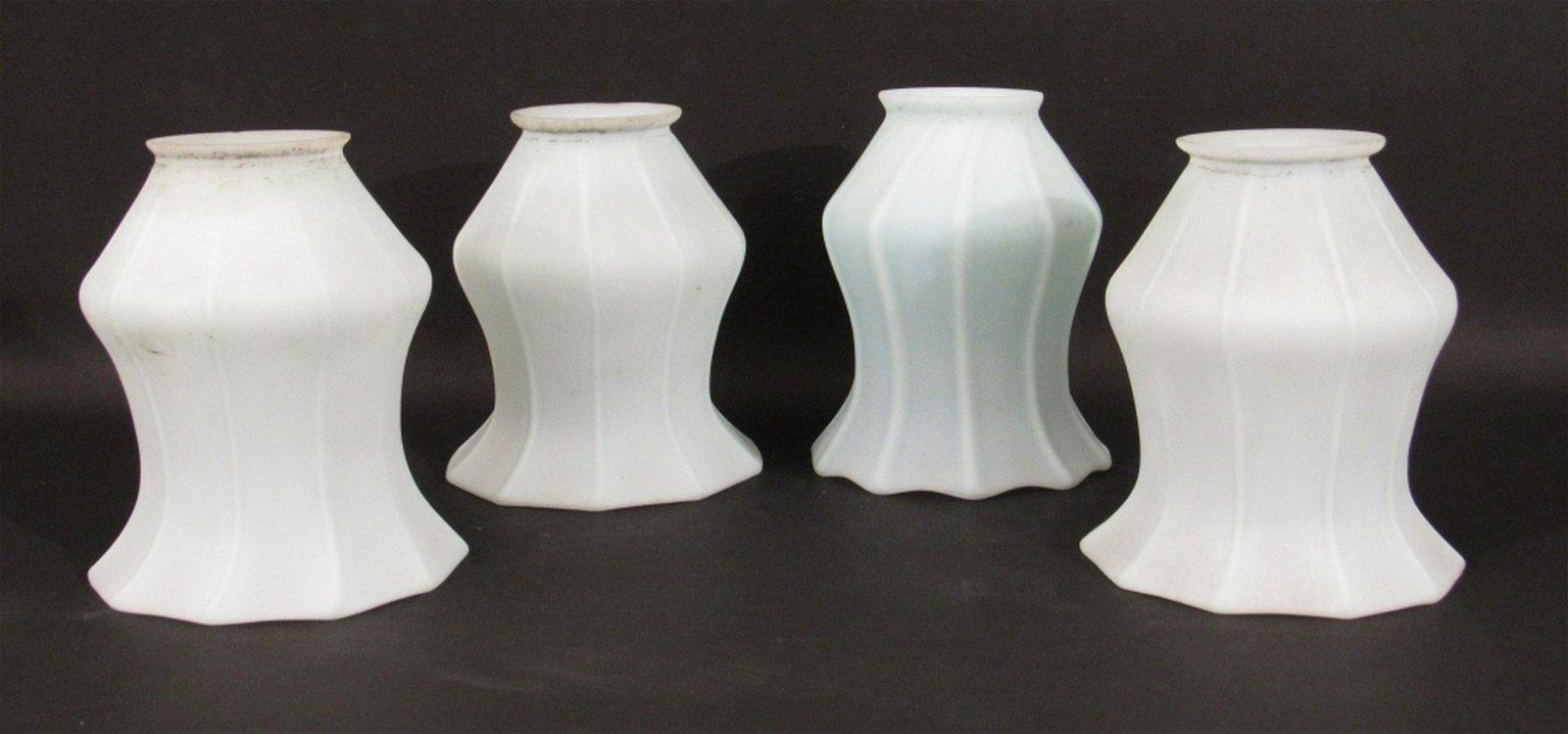 Set 4  Quezal Art Glass Shades
