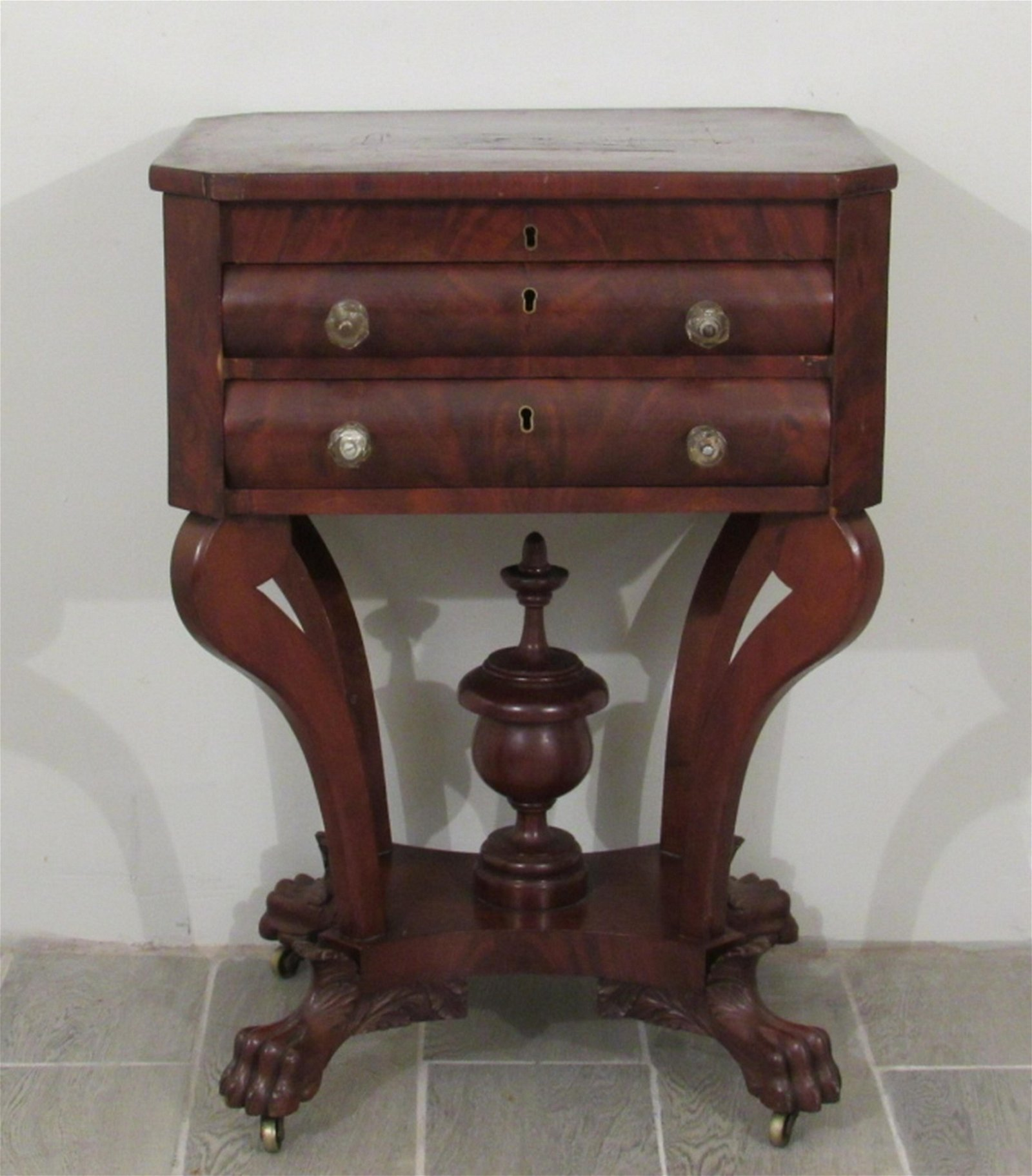 Antique American Empire Sewing Stand