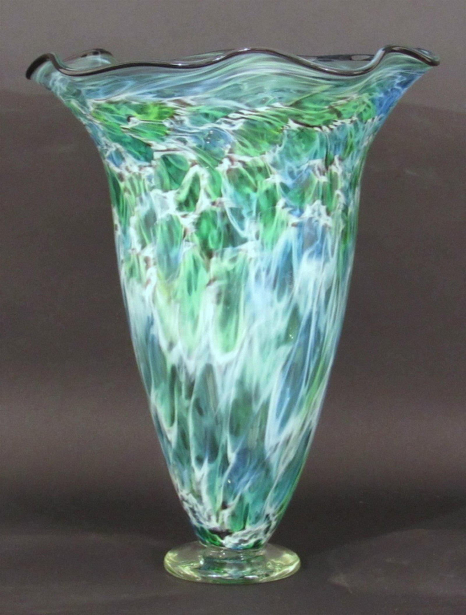 Signed Studio Art Glass Vase