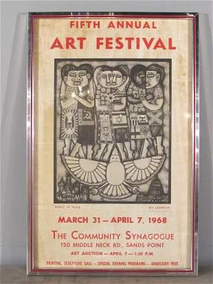 Rex Clawson Signed Poster Circa 1968