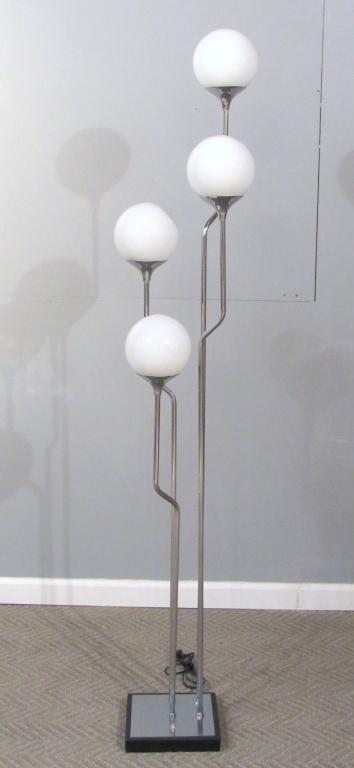 Cascading Multi-Bulb Chrome Floor Lamp