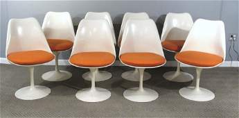 Set of 8 Eero Saarinen Tulip Dining Chairs