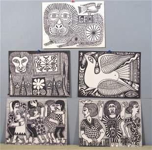 Rex Clawson - (1929-2007) - Five works