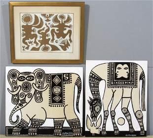 Rex Clawson - (1929-2007) - Three works