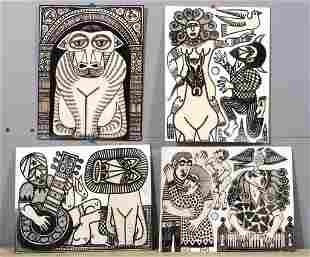 Rex Clawson - (1929-2007) - Four works