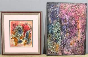 Clara Ledesma - (DR 1924-1999) - Two works