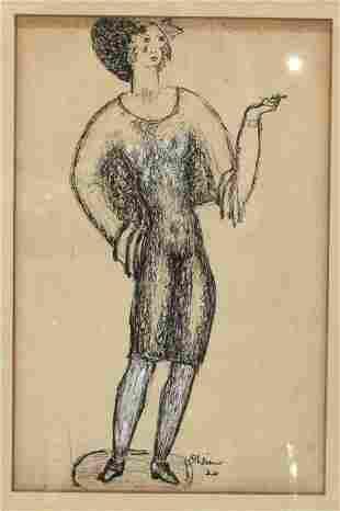 Attr: Chaim Gross (1904-1991) Watercolor