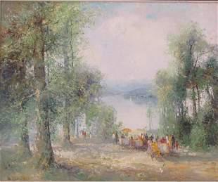 Willie Bauer (German b. 1928) - Oil on Canvas