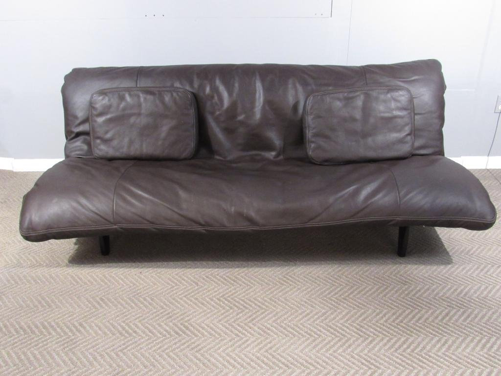De Sede Leather Convertible Sleeper Sofa