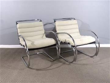 Pair Mies Van Der Rohe By Alivar 325 Chairs