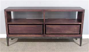 Modern Dark Stained Low Sideboard