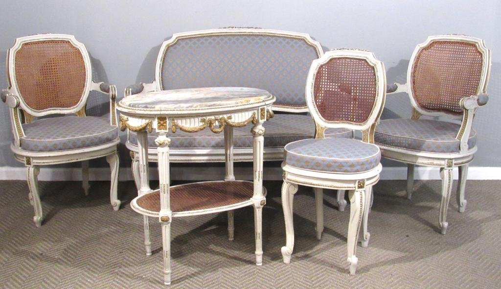 5 Piece French Carved Salon Suite