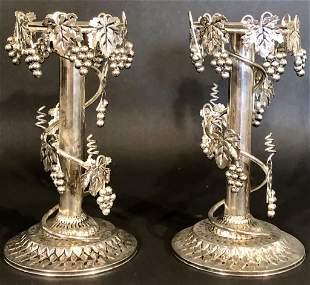Arthur Court Pair Candle Sticks