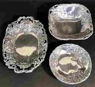 Arthur Court Three Pieces Serving Bowls