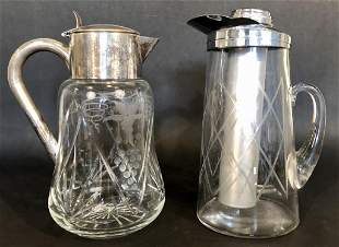Two Pieces Crystal Pitcher