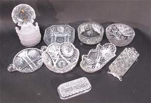 Assorted Lot of Cut Crystal and Glass