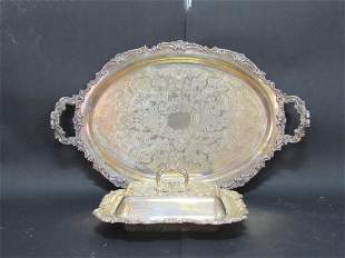 Silver Plated Tray and Covered Dish